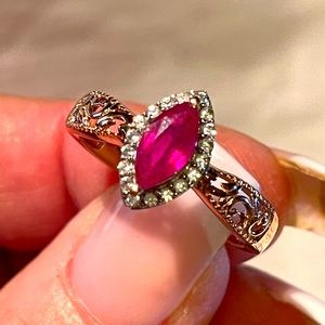 "Niassa Ruby W/Cambodian Diamonds 11"""